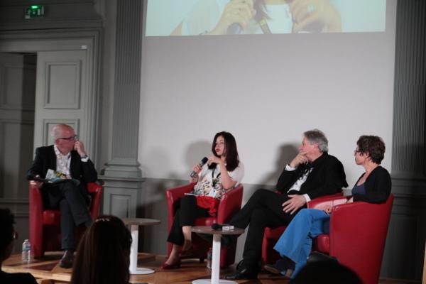 Un moment grave avec PE Deldique (RFI) ....Thierry Michel, Rouja Lazarova