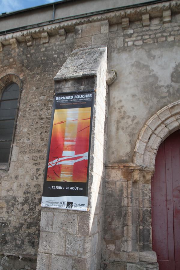 La collégiale Saint Pierre Le Puellier accueille tout l'été des oeuvres de Bernard Foucher