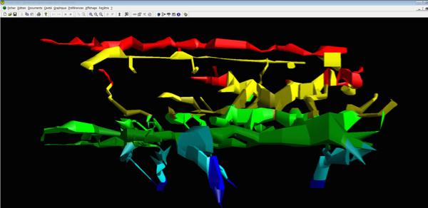 Feu d'artifice sur l'écran de visual topo...des grottes en 3D !