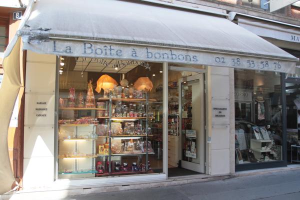 """La boutique """"La boite à bonbons"""" 8 rue d'Avignon à Orléans"""