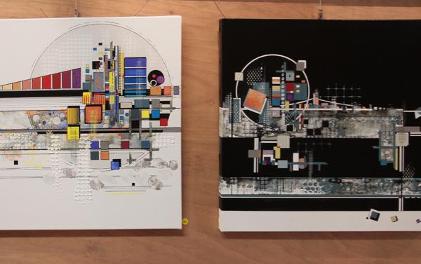 Deux acryliques de Florence Keller