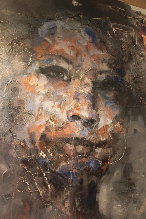 """Détail de """"IFATY"""" acrylique + HST de Eric Javiol"""